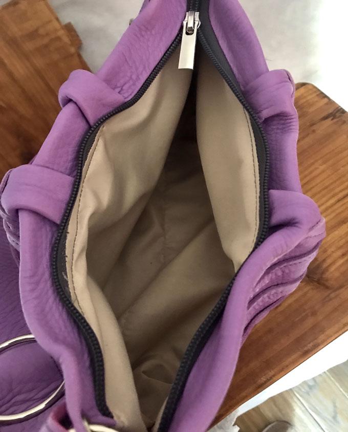 Bolso Samer Snake en piel violeta6