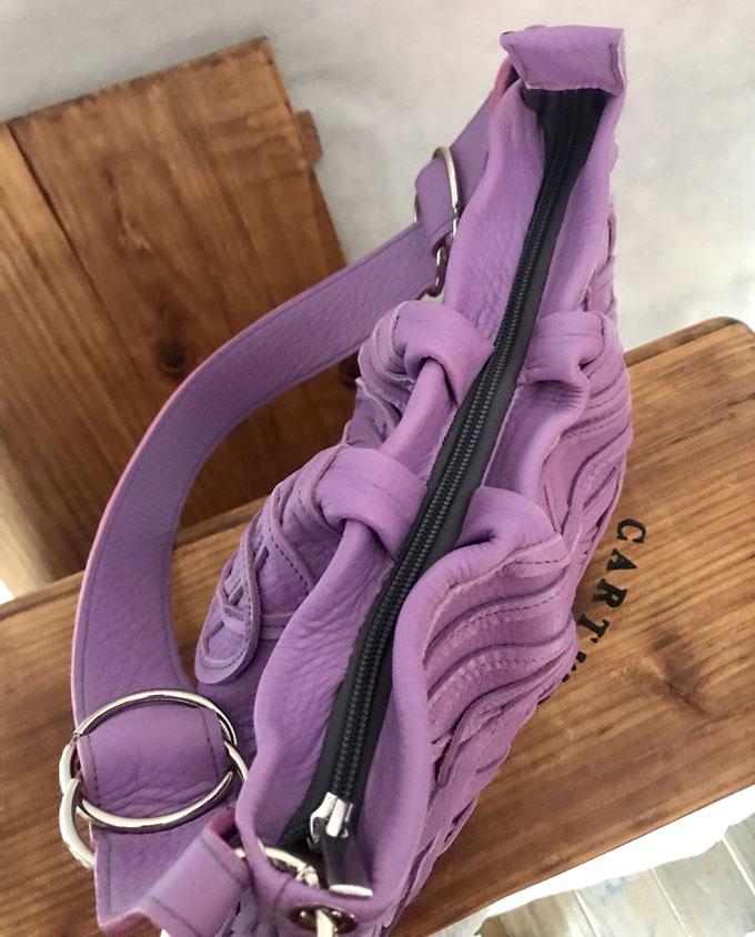 Bolso Samer Snake en piel violeta5