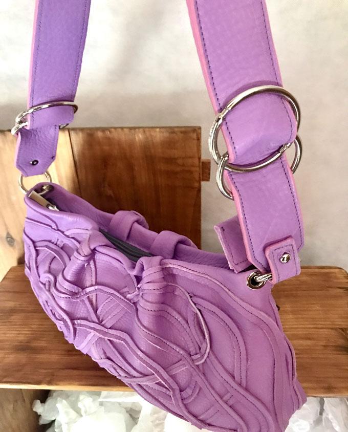 Bolso Samer Snake en piel violeta3