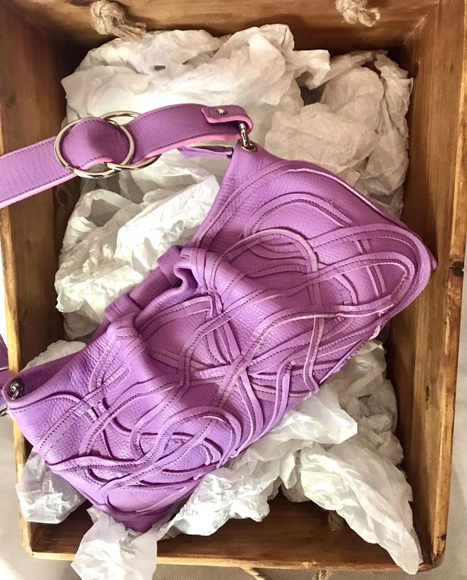 Bolso Samer Snake en piel violeta