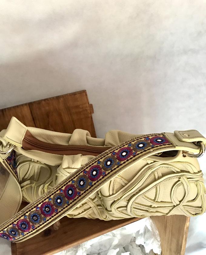 Bolso Samer Snake en piel amarilla5