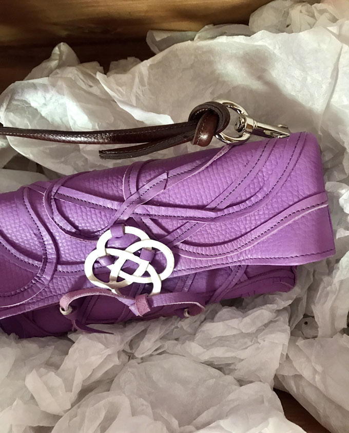 Bolso Vejer Snake en piel violeta2