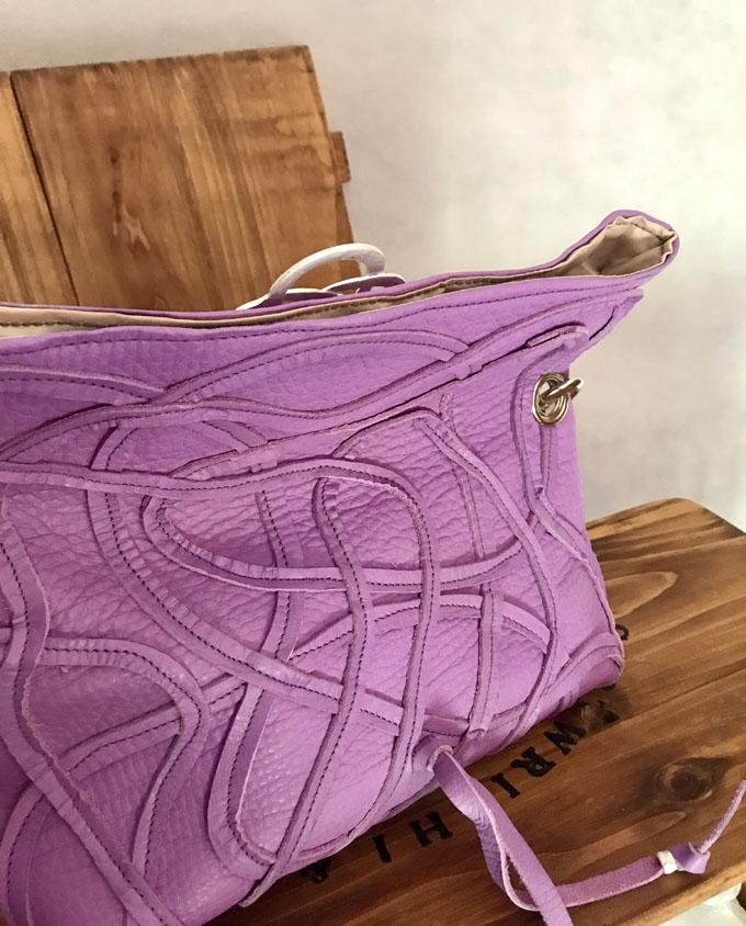 Bolso Vejer Snake en piel violeta6
