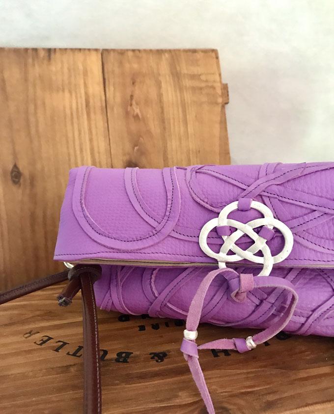 Bolso Vejer Snake en piel violeta4