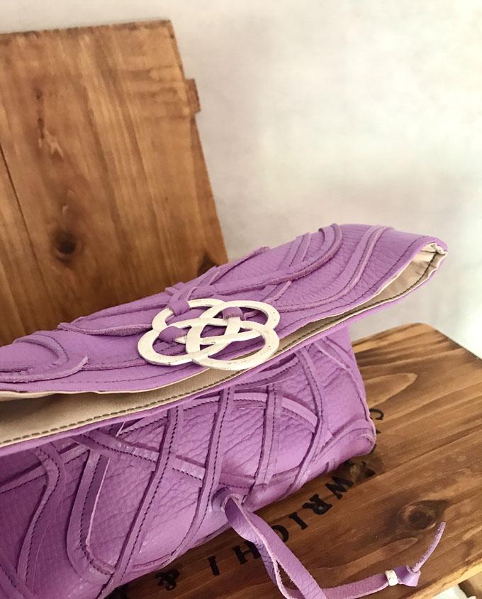 Bolso Vejer Snake en piel violeta5