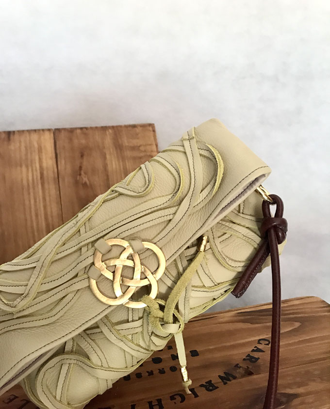 Bolso Vejer Snake en piel amarilla3
