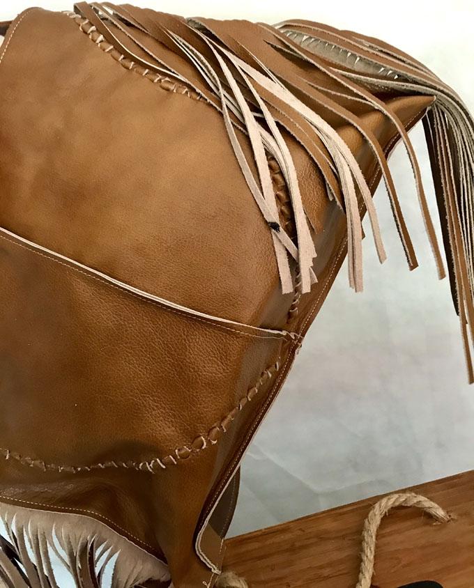 bolso piel marrón bandida