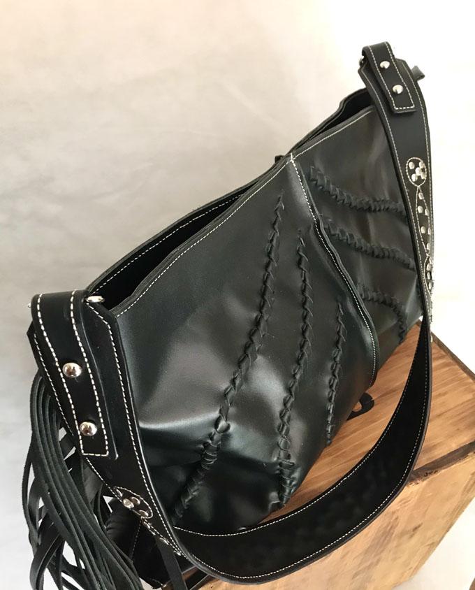 bolso piel negro bandida 05