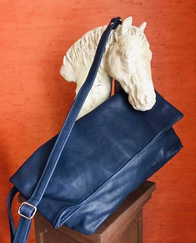 Bandolera azul maxi
