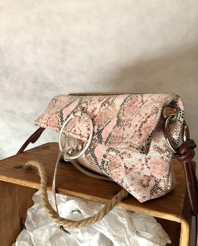 bolso bandolera vexer print serpiente rosa3
