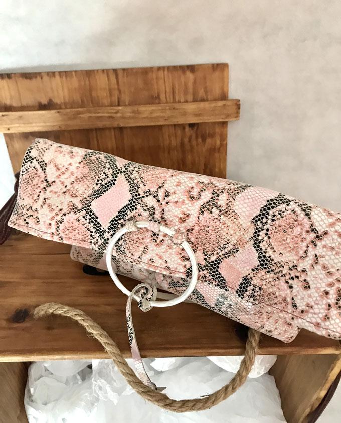 bolso bandolera vejer print serpiente rosa4