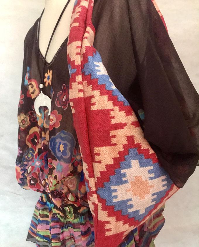 bolsa de playa niña kilim rojo reversible1