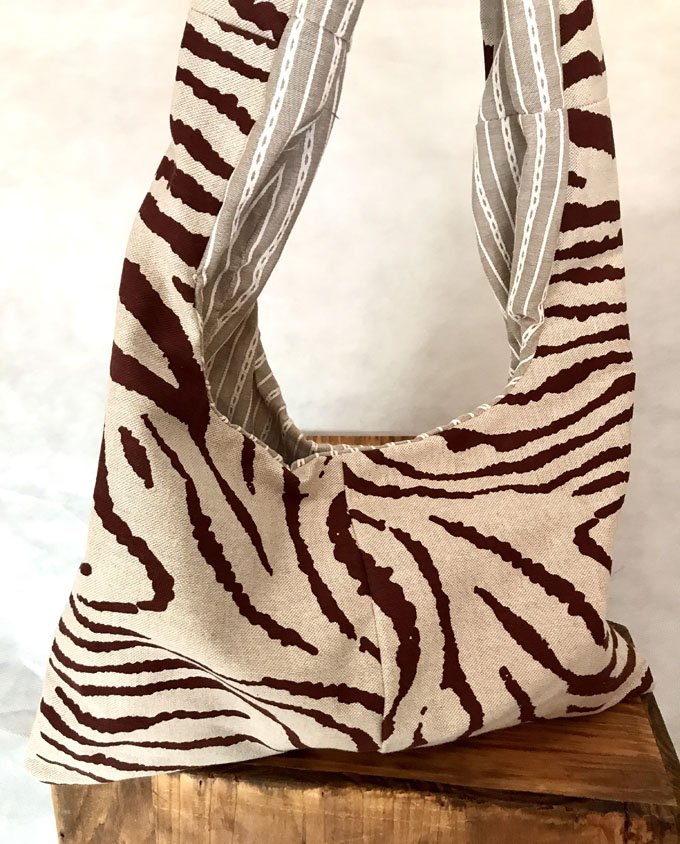 bolsa de playa niña safari reversible