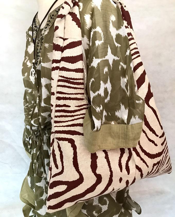 bolsa de playa niña safari reversible1