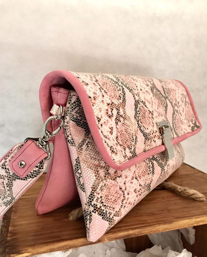 bolso piel print serpiente rosa y ante3