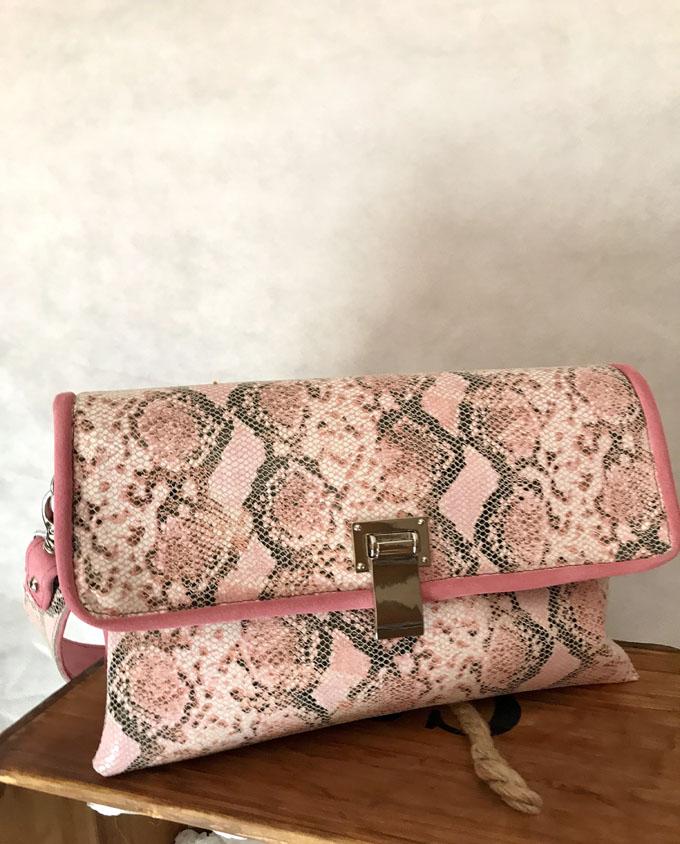 bolso piel print serpiente rosa y ante4