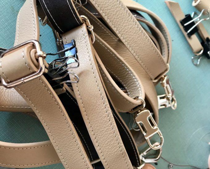 Correas regulables de un bolso personalizado