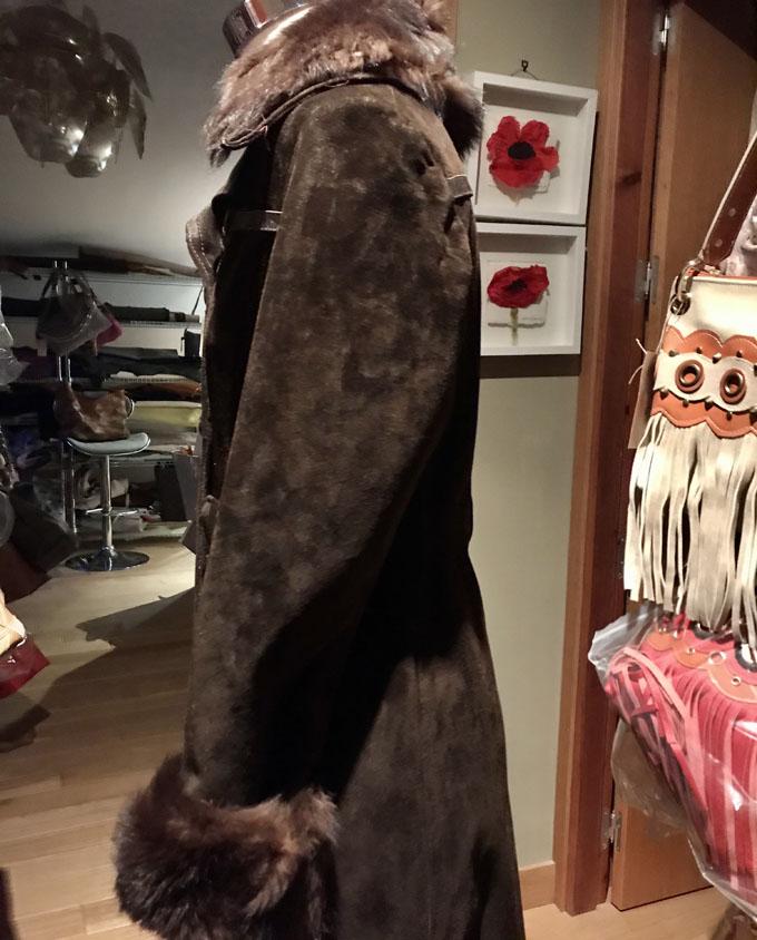 abrigo de piel vintage